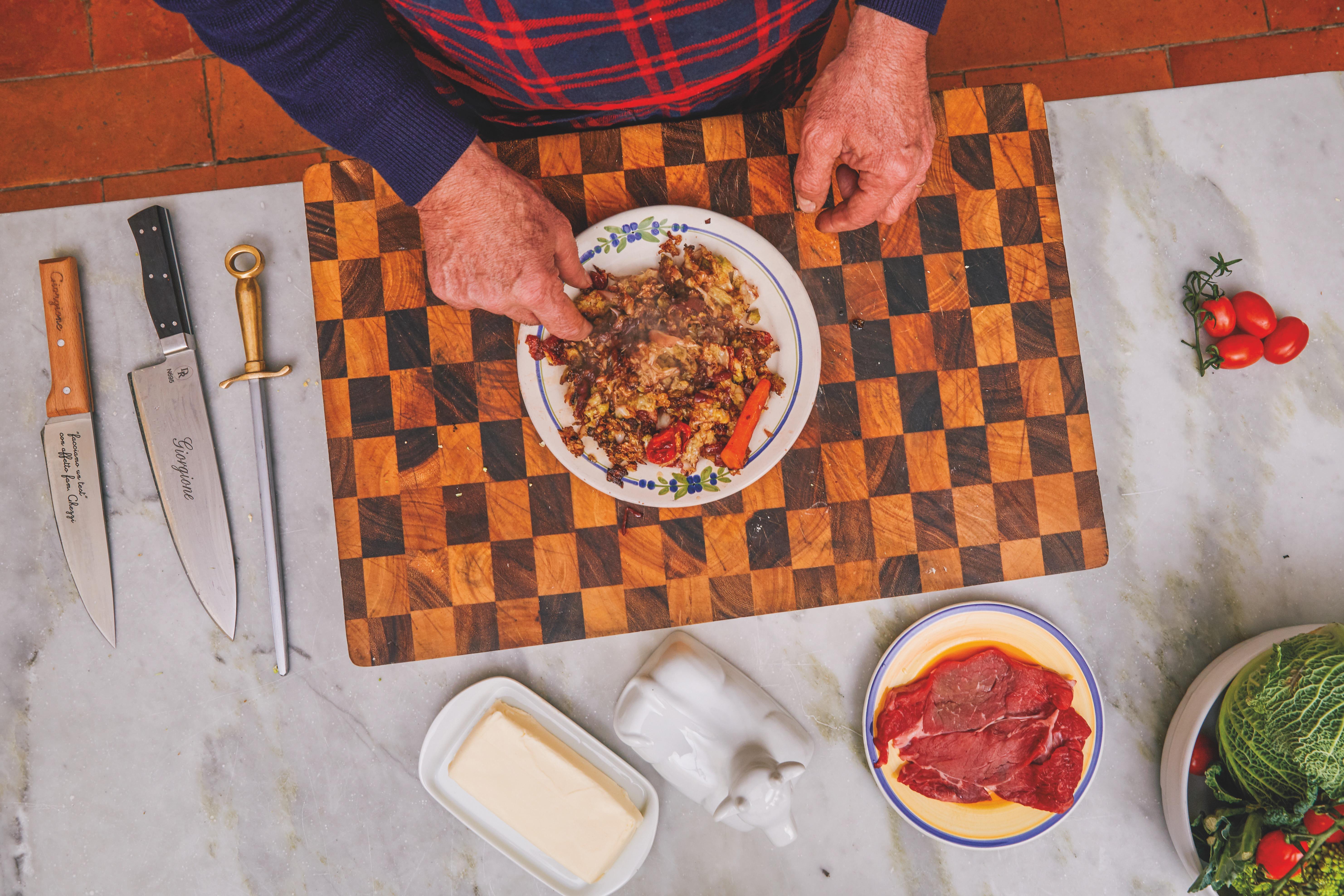 Il celebre tagliere dello chef Giorgione