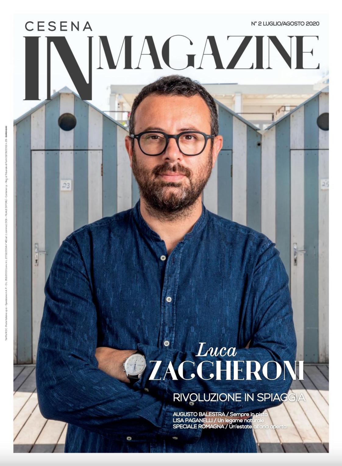 Luca Zaccheroni in copertina su Cesena IN Magazine n. 2-2020