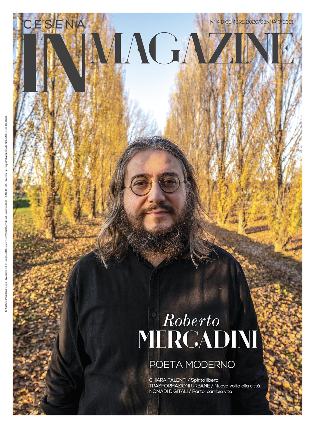 Roberto Mercadini in copertina su Forlì IN Magazine 4/2020