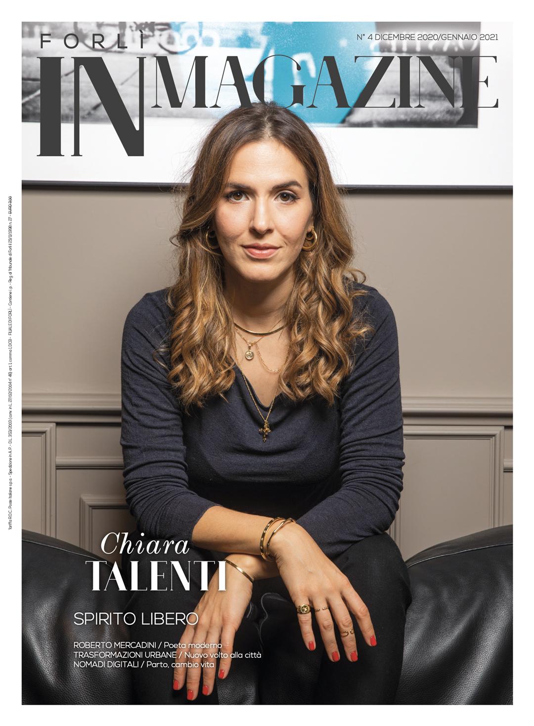 Chiara Talenti in copertina su Forlì IN Magazine n. 4/2020