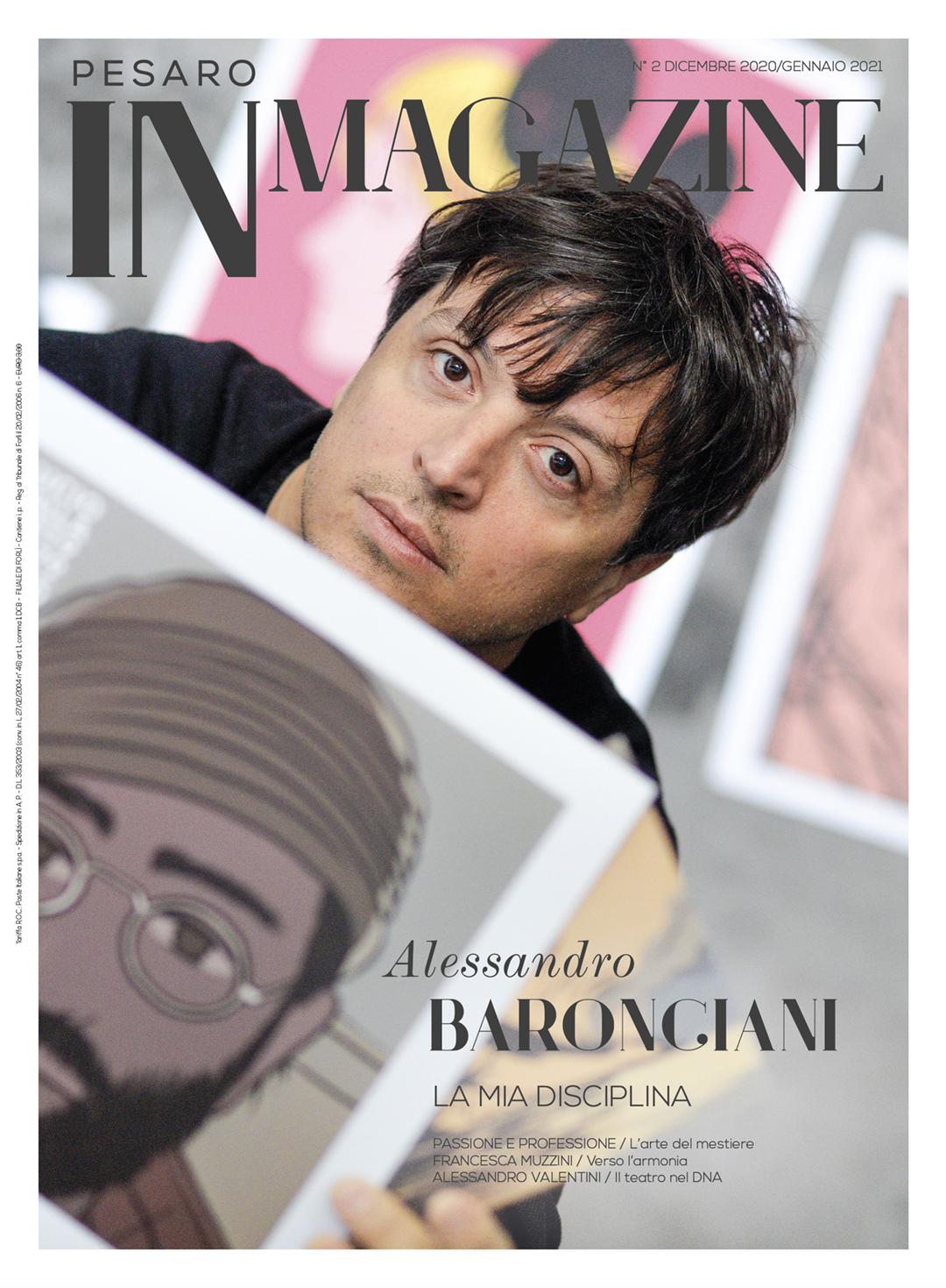 Alessandro Baronciani in copertina di Pesaro IN Magazine n. 2/2020