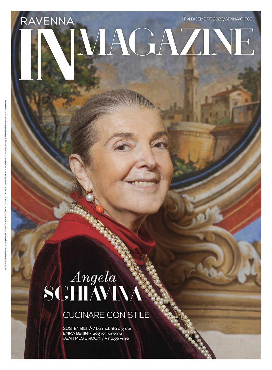 Angela Schiavina in copertina su Ravenna IN Magazine n. 4/2020