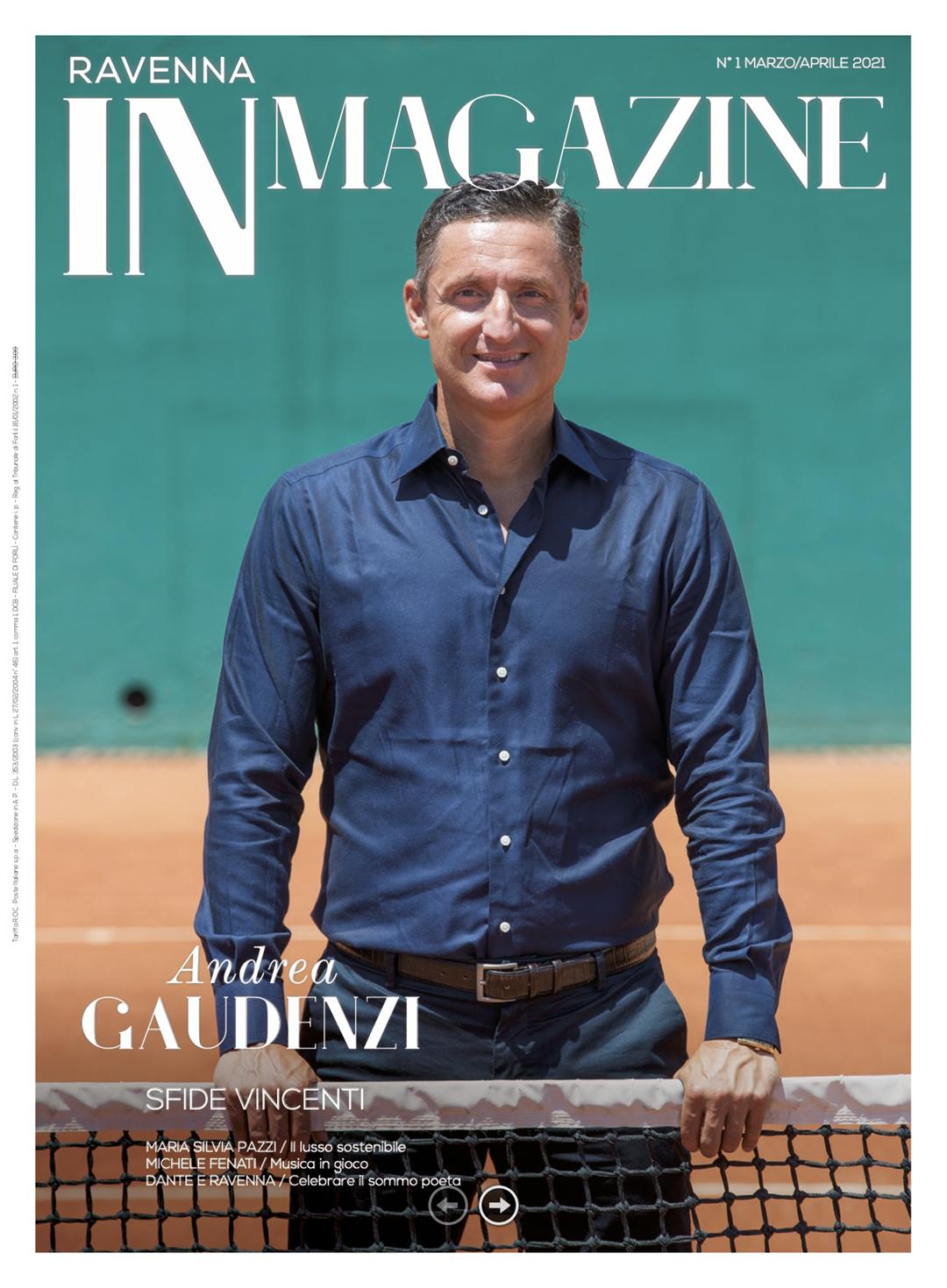 Andrea Gaudenzi in copertina su Ravenna IN Magazine n. 1-2021