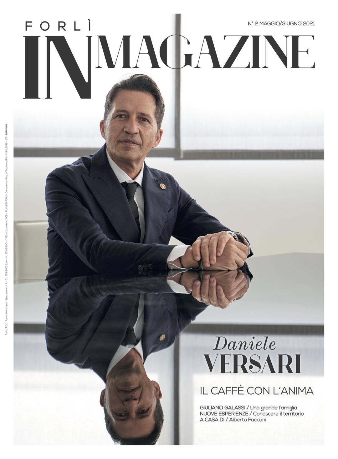 Daniele Versari copertina Forlì IN Magazine 2-2021