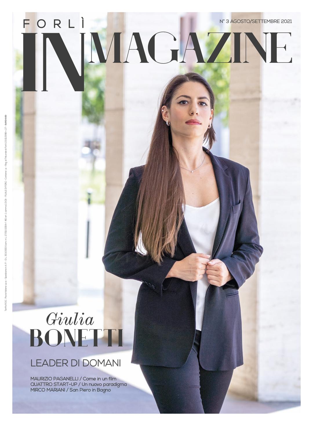 Giulia Bonetti in copertina su Forlì iN Magazine 03/2021