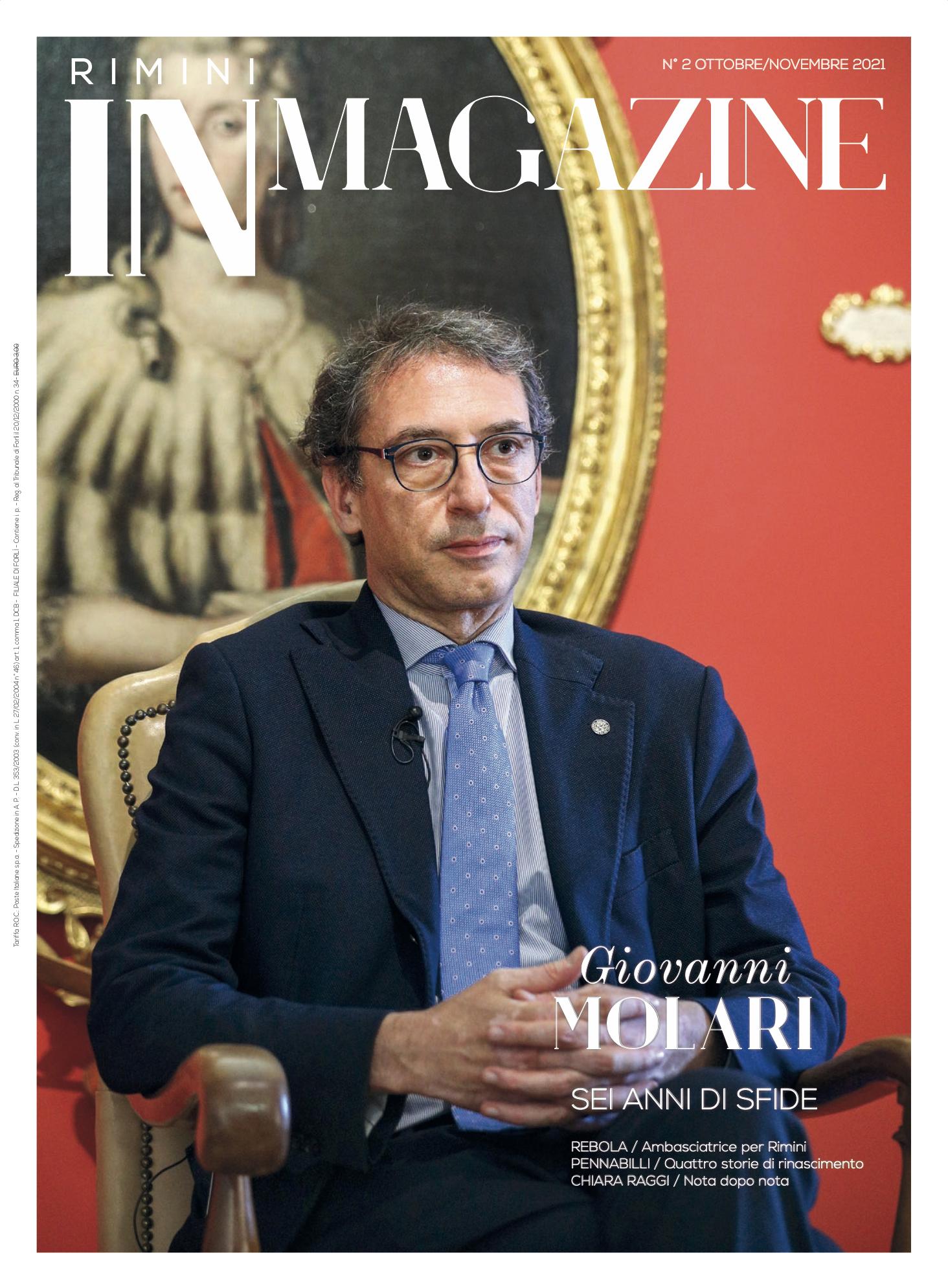 Rimini IN Magazine n. 4-2021: in copertina, Giovanni Molari